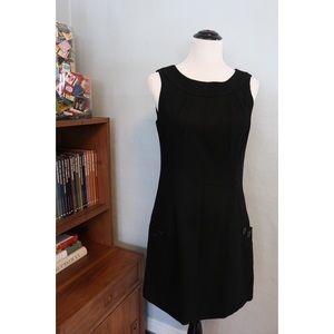 ESPRIT Sleeveless Big Pockets Black Wool Dress NWT